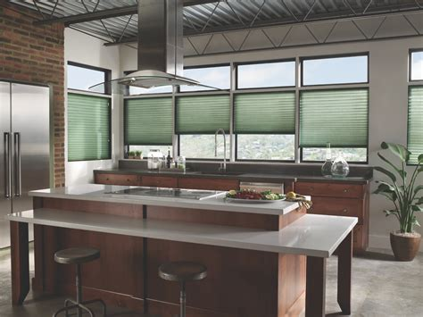 modern window treatments for kitchen modern kitchen cellular shades from blindsgalore com