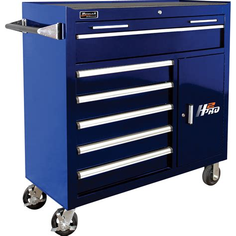 Homak H2pro 41in 6 Drawer Roller Tool Cabinet With 2