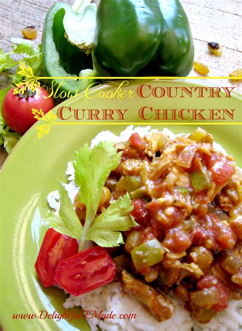 Slow Cooker September Slow Cooker Country Curry Chicken