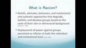Effects Of Racism On Mental Health