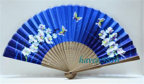 Hand Made Silk Japanese Hand Fan Folding Fan By