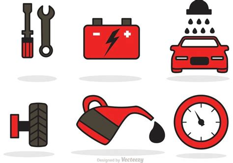 Car Service Icons Vector 145849