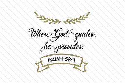 God Guides Provides He Craft Svg