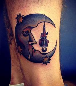 Lune Dessin Tatouage : tatouage pierrot lune recherche google tatouage moon tattoo designs tattoos et hipster tattoo ~ Melissatoandfro.com Idées de Décoration