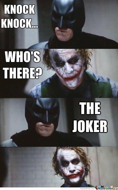 knock knock joker  clarkngo meme center