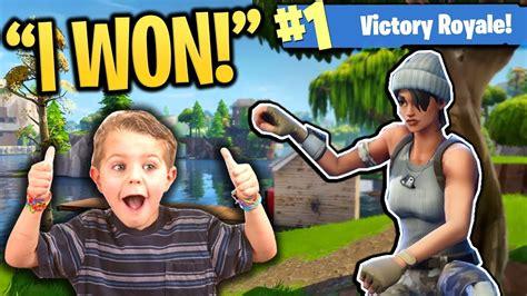 helping  year  kid win   fortnite game