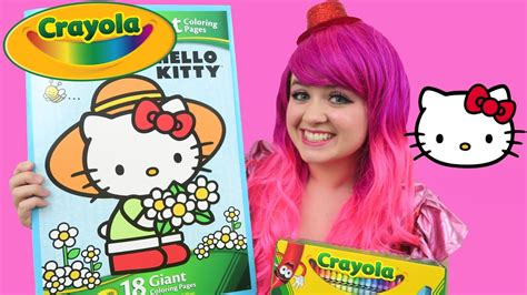 kitty giant coloring page crayola coloring book
