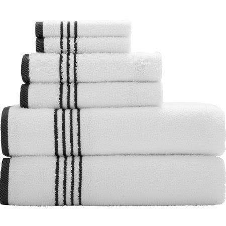 black and white towels bathroom mainstays essential true colors bath towel collection 6 22757