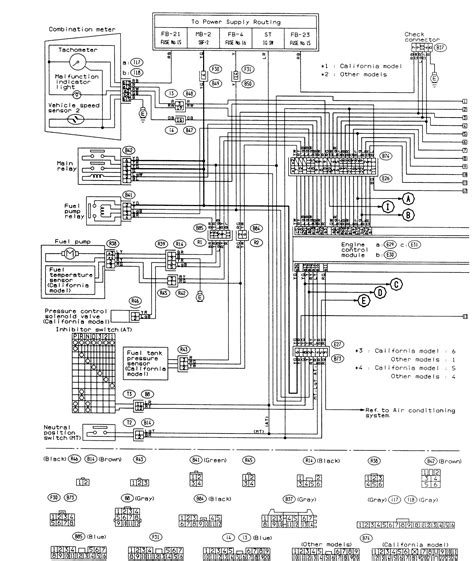 Electrical Diagram For Unit Subaru Forester