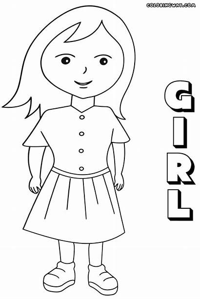 Human Coloring Pages Colorings Girl9