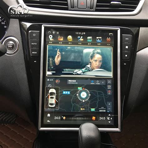 tesla style vertical screen android navigation radio