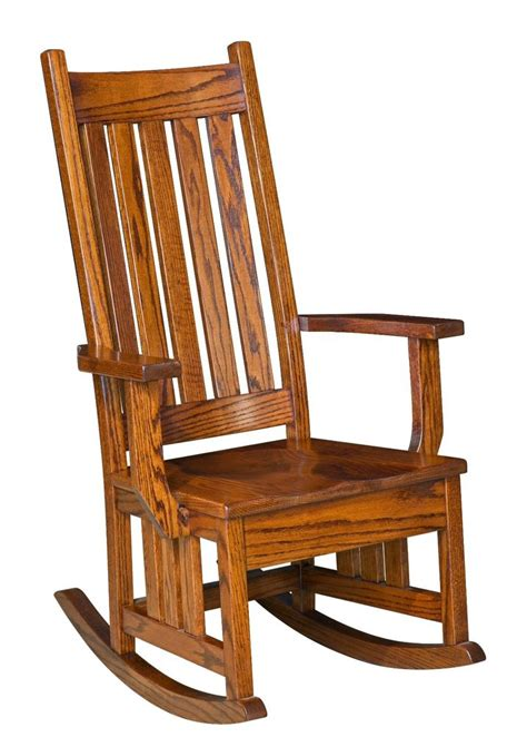 amish mission craftsman solid wood rocking chair rocker