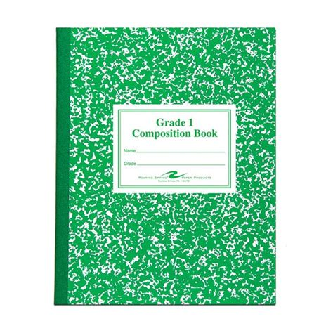 roaring 77920 grade 1 marble composition notebook