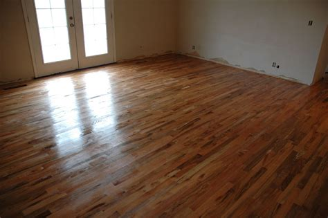 finished wood flooring remodelaholic how to finish solid wood flooring step by step
