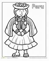 Peru Coloring Activities Pages Flag Hispanic Learning Worksheets Printable Children Heritage Ten Peruvian Sheet Traditional Sheets Mommymaleta Around Clothes Colouring sketch template