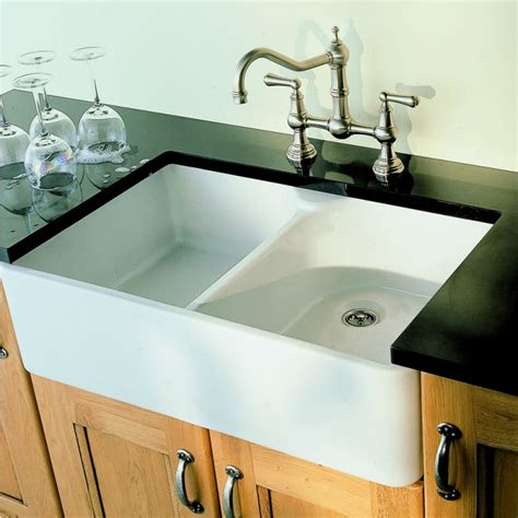 kitchen faucets for farm sinks villeroy and boch farmhouse 80 bowl ceramic sink