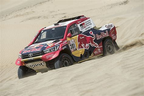 Toyota Al by Dakar 2018 Stage 1 Al Attiyah Loeb In Brake