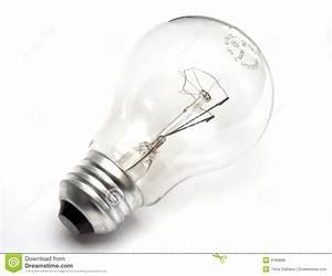 Light Bulb At White Background Stock Photo - Image: 4180866