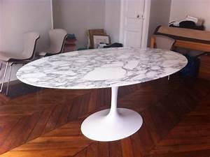 Table tulip ovale Saarinen édition Knoll L'Atelier 50 Boutique vintage achat et vente