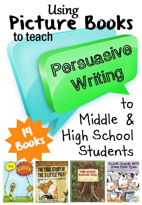 Teaching Middle School Students How To Write A Resume by Picture Books That Demonstrate Persuasive Writing