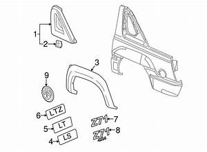 Genuine Gm Upper Quarter Trim 15908598