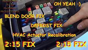 Blend Door Fix Chevy Truck  U0026 Suv Hvac Actuator Recalibration 2003 - 2014