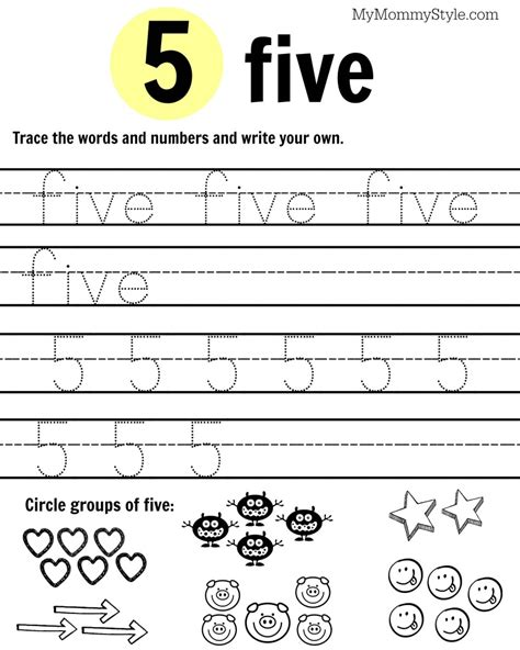 Free Printable Number Worksheets 19  My Mommy Style