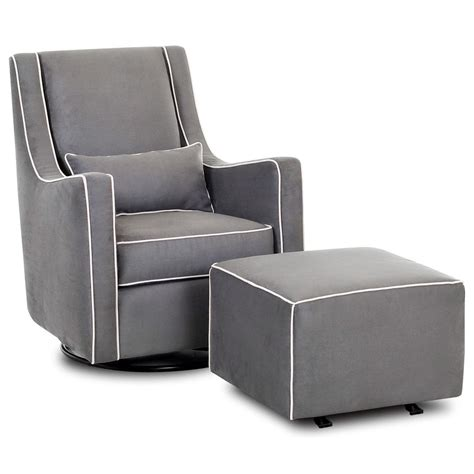 chairs and accents swivel gliding chair and ottoman