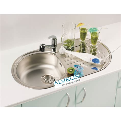 kitchen sink plumbing kit alveus form 40 single 1 0 bowl drainer stainless steel