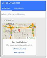 Pictures of Claim Your Google Business Page