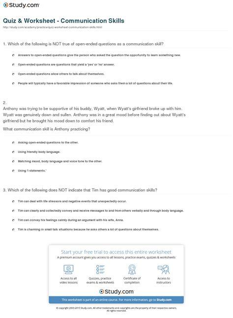 best of communication skills worksheets goodsnyc