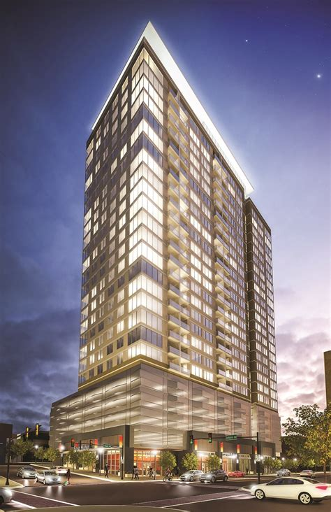 chicago developers open luxury high rise  suburban st
