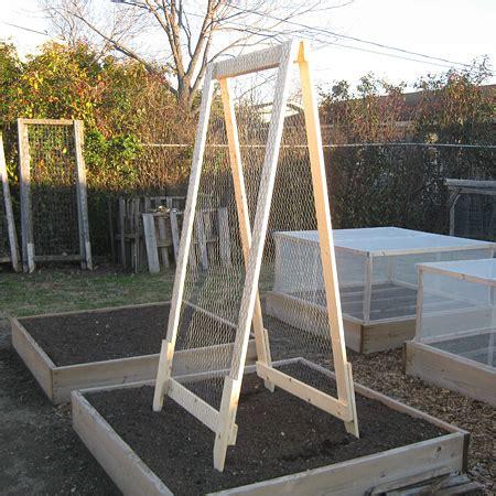 A Frame Garden Trellis by Diy A Frame Veggie Trellis Vegetable Gardener