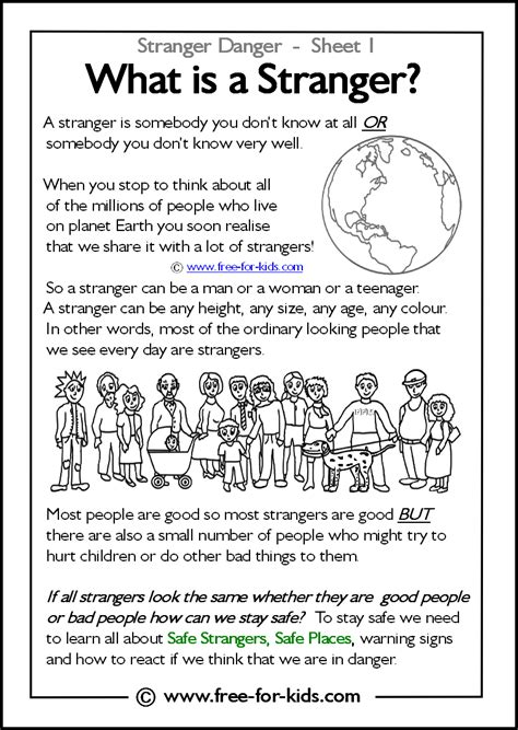 danger worksheets and colouring pages 309 | what%20is%20a%20stranger%20thumbnail