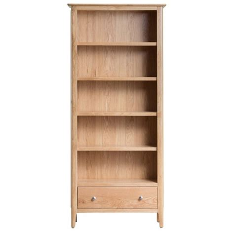 Assembled Bookcases by Cornsay Oak Large Bookcase Fully Assembled Oak World