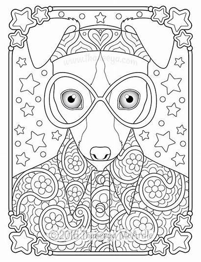 Coloring Pages Hippie Animals Thaneeya Mcardle Adults