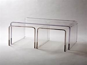 Nesting coffee table acrylic coffee table top acrylic for Acrylic nesting coffee table