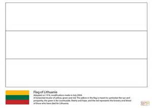 Flag Of Lithuania Coloring Page Free Printable Coloring
