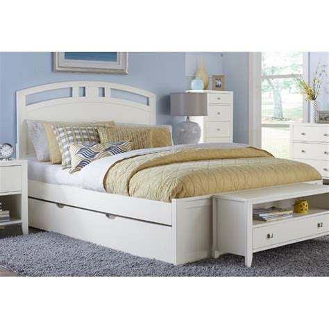 ne kids pulse queen panel bed  trundle  white nt