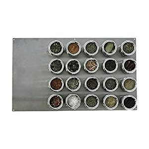 Stainless Steel Magnetic Spice Rack by Lipper International Soho 20 Large Board