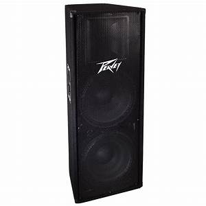 Famous Stages  U0026gt  Band Gear  U0026gt  Peavey Dual 15 U0026quot  Full Range Speakers