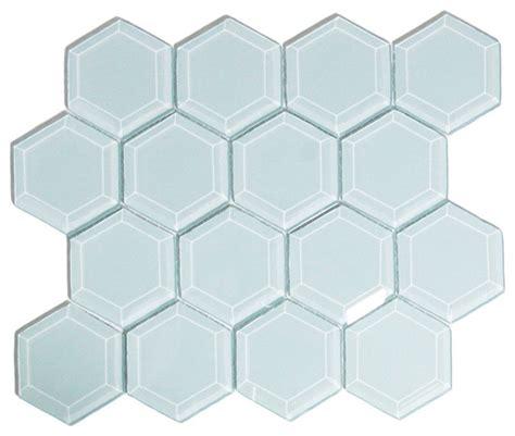 vapor hexagon beveled glass tile modern tile by