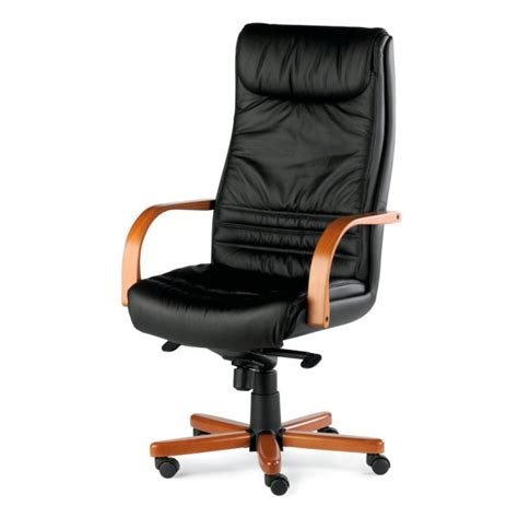 fauteuil bureau cuir bois fauteuil pr 233 sident cuir et bois kerlouan lemondedubureau