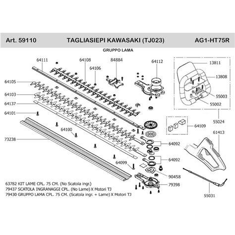 Kawasaki Hedge Trimmer by Kawasaki Spare Parts For Hedgetrimmer Tj023v Ag1 Ht75r