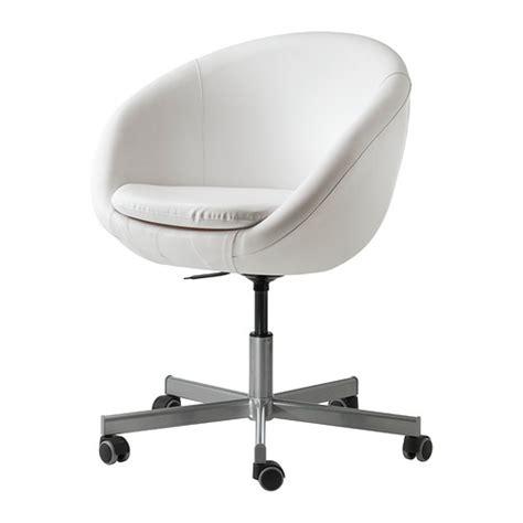 chaise de bureau blanche skruvsta swivel chair idhult white ikea