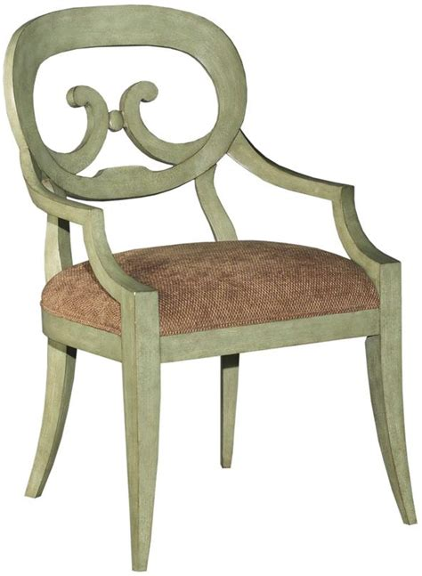set 6 new country dining arm chair celadon paint