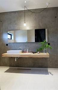 Waschtischplatte Fuer Aufsatzwaschbecken : holz waschtischplatte 21 gestaltungsideen f r angenehmes ambiente badezimmer badezimmer ~ Orissabook.com Haus und Dekorationen