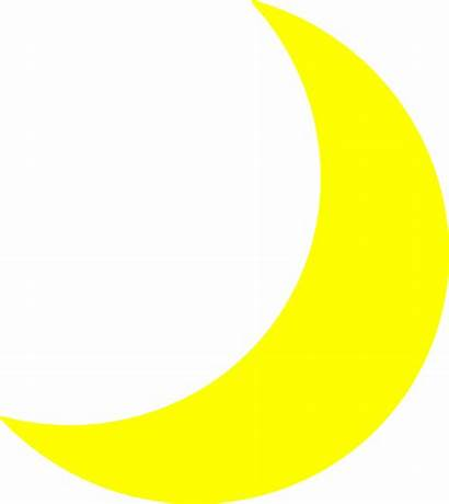 Moon Yellow Clip Crescent Clipart Cliparts Sleeping