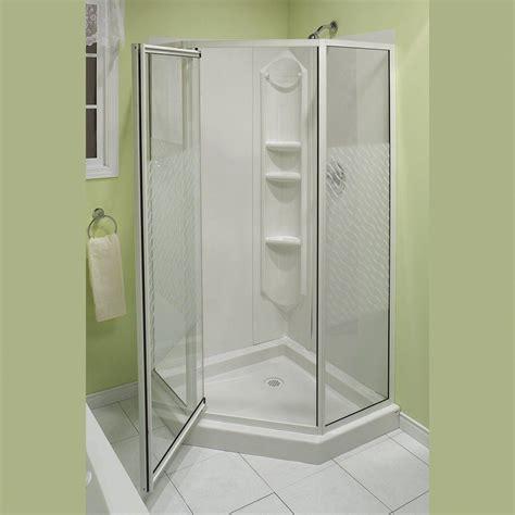 Fiberglass Shower Units by Portrayal Of Corner Shower Units For Small Bathroom