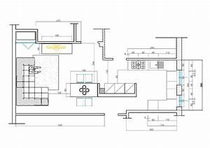Progetto cucina soggiorno progetti ristrutturazione casa for Progetti cucina soggiorno